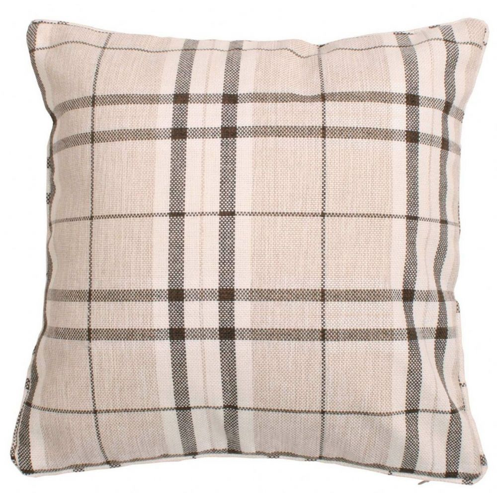 HIGHLAND MIST TARTAN PRINTED CHECK CUSHION CREAM COLOUR